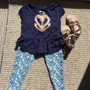 Epic Threads 2T Mermaid short sleeve top/pants set
